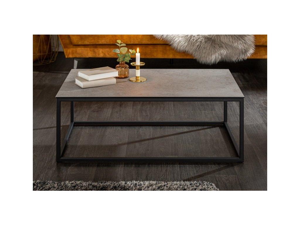 Designový konferenční stolek Dhani, betonový vzhled 01