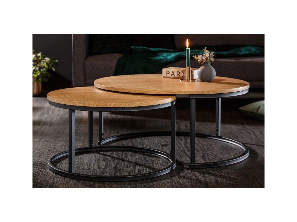 Luxusní konferenční stolek Dipesh, přírodní 01