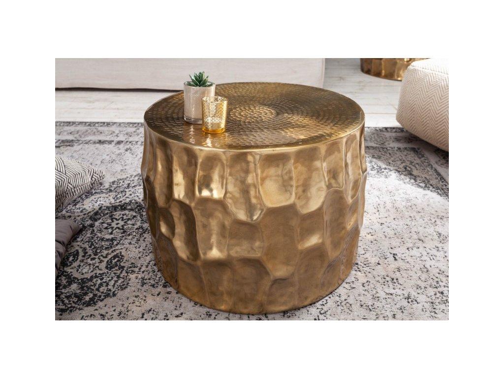 Designový konferenční stolek Elliott, zlatý 53cm 01