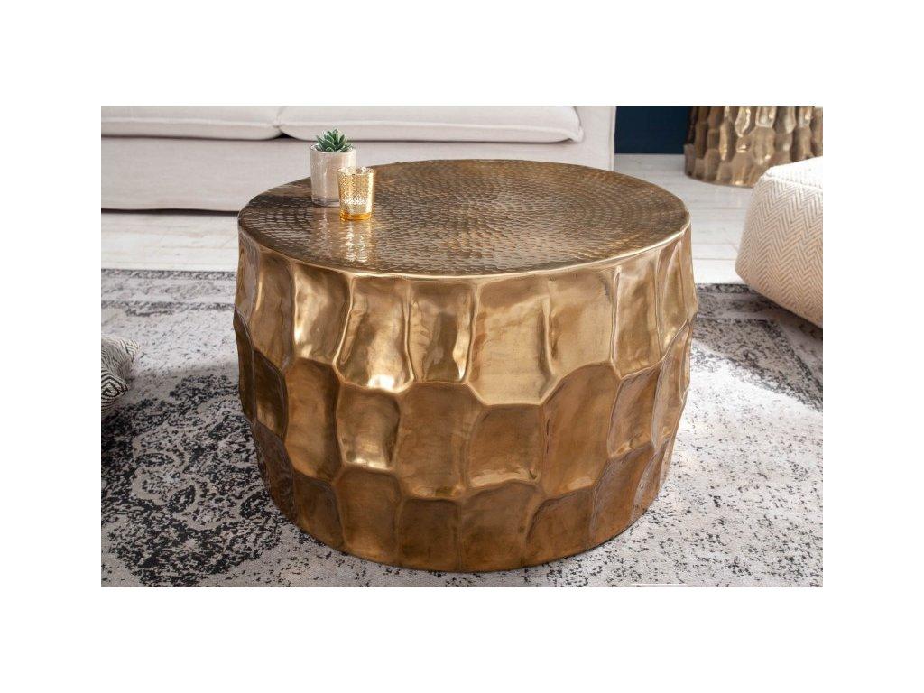 Designový konferenční stolek Elliott, zlatý 68cm 01