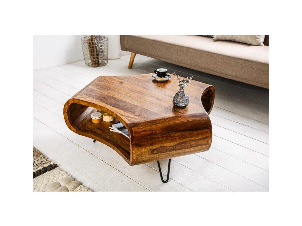 Designový konferenční stolek Eric, hnědý 01