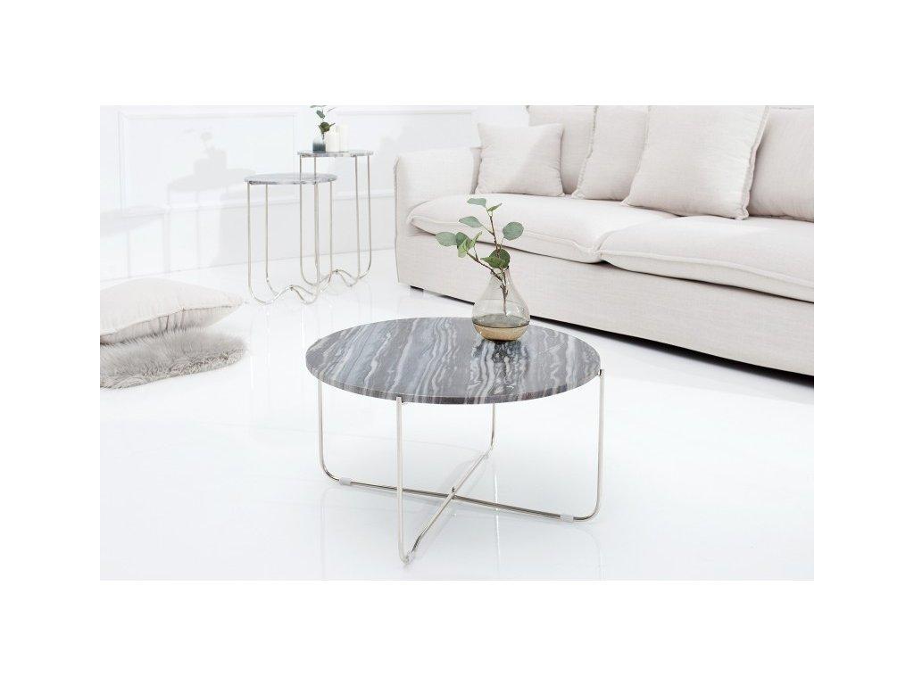 Luxusní konferenční stolek Evan, šedý 01