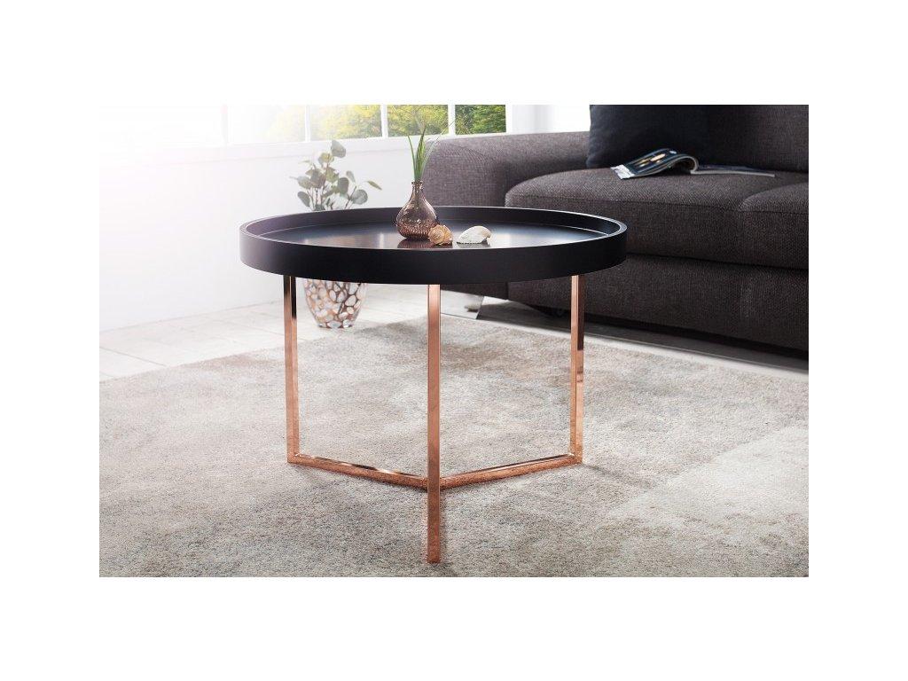 Designový konferenční stolek Fergus, černý 60cm 01