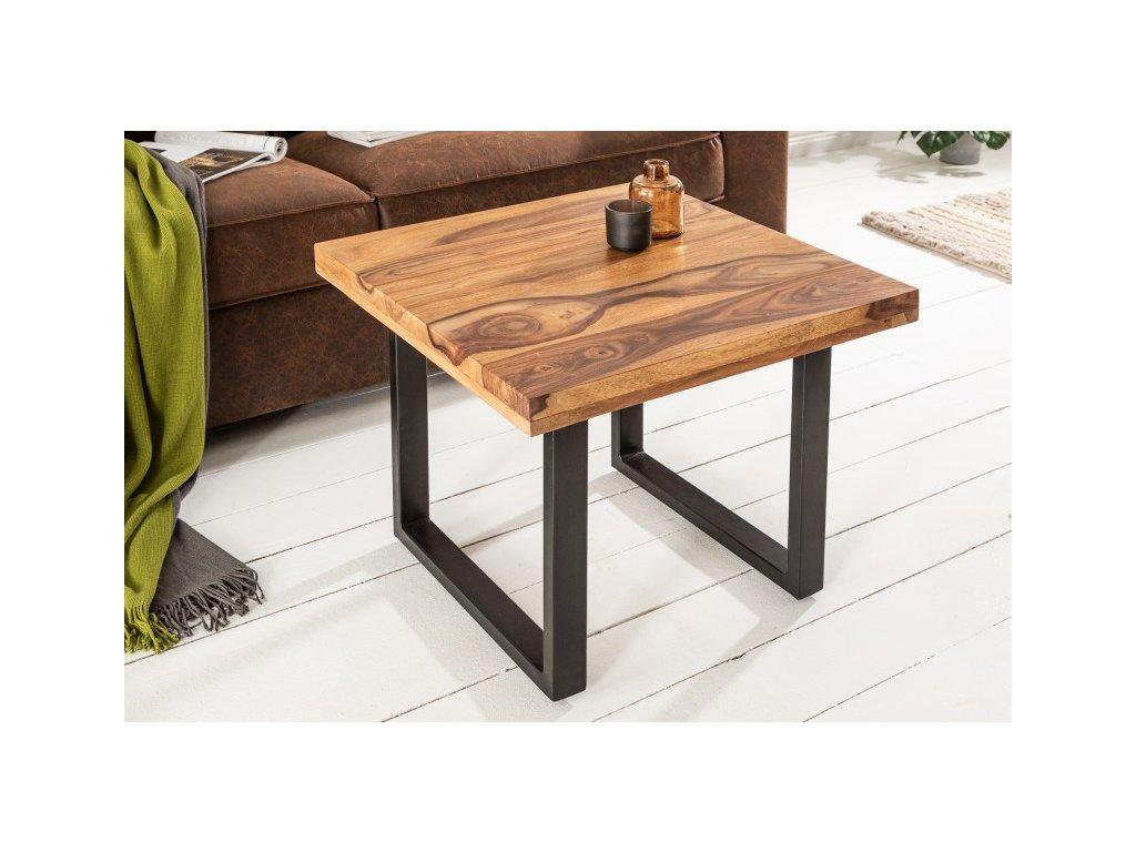 Luxusní konferenční stolek Gareth, sheesham 60cm 01