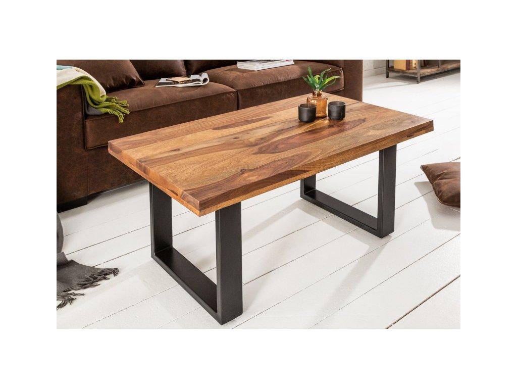 Luxusní konferenční stolek Gareth, sheesham 100cm 01