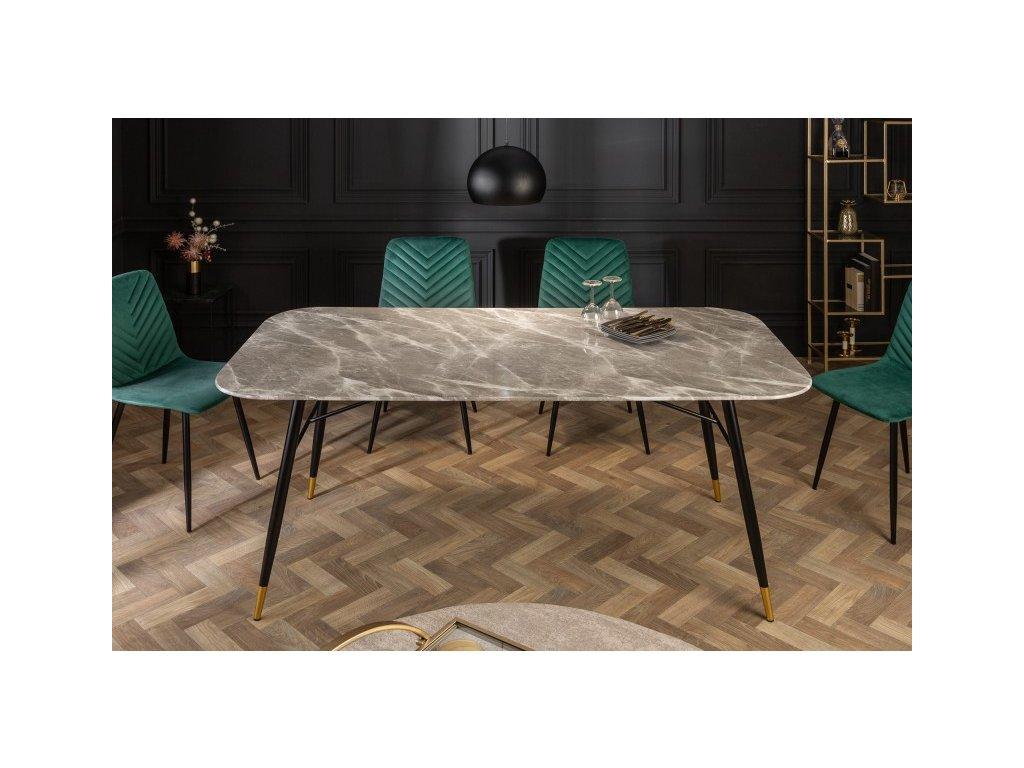 Luxusní jídelní stůl Giles, šedý 01