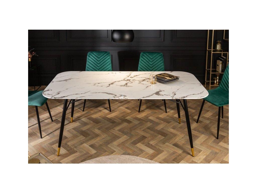 Luxusní jídelní stůl Giles, bílý 01