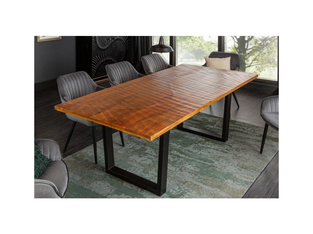 Masivní jídelní stůl Glenn, přírodní 01