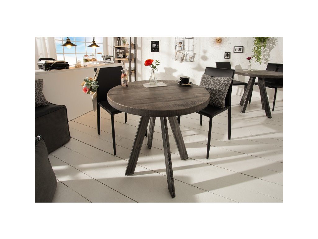 Designový jídelní stůl Griff, šedý 80cm 01