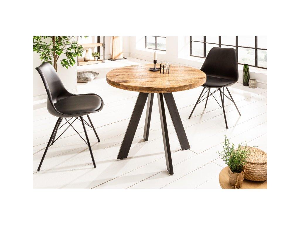 Designový jídelní stůl Griff, přírodní 80cm 01