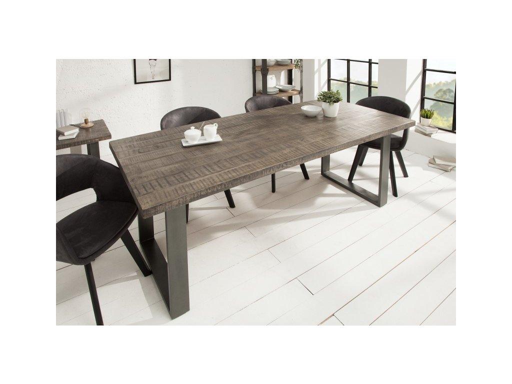 Luxusní jídelní stůl Zachary, šedý 200cm 01
