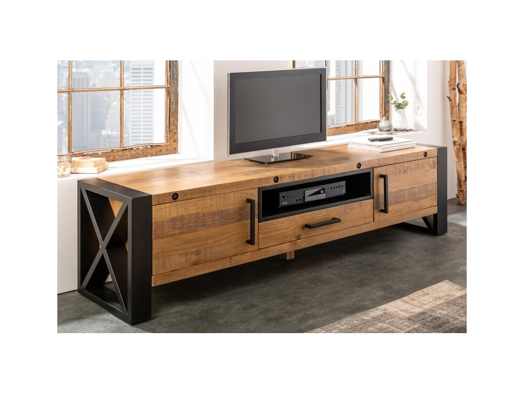 Masivní TV stolek Isaac, 200cm 01
