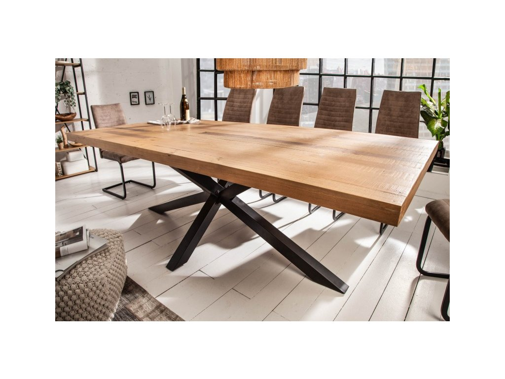 Luxusní jídelní stůl Joel, hnědý 200cm 01