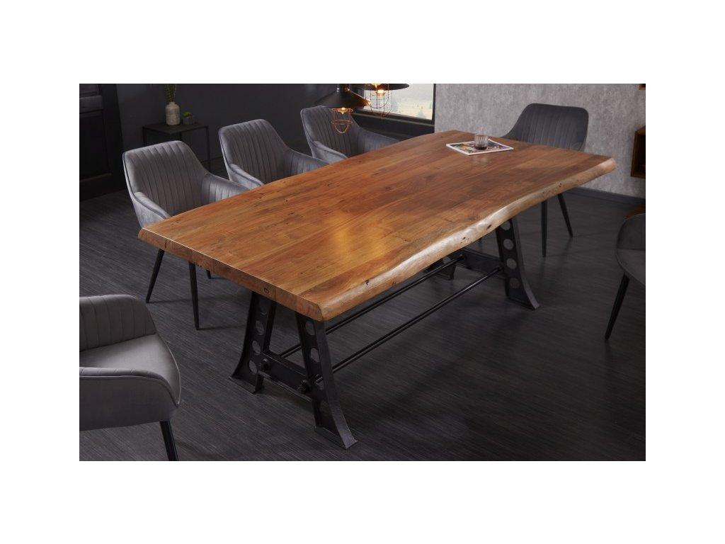 Luxusní jídelní stůl Stefan, hnědý 220cm 01