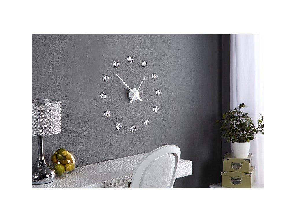 Nástěnné hodiny Rachel, stříbrné 01