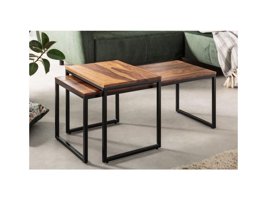 Luxusní konferenční stolek Leopold, hnědý 01