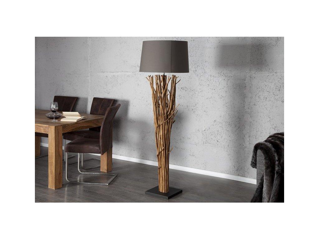 Designová stojací lampa Alice, šedá 03