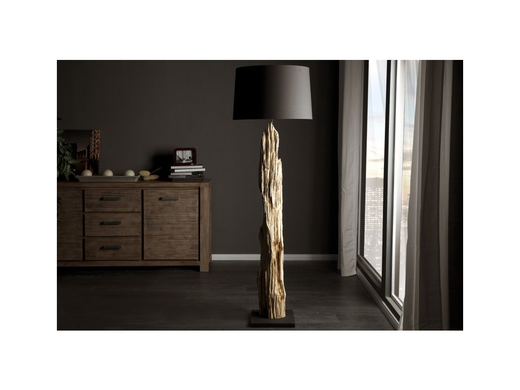 Designová stojací lampa Molly, černá 02