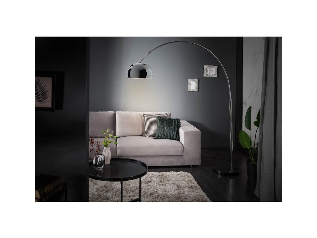Luxusní stojací lampa Anna, stříbrná 01