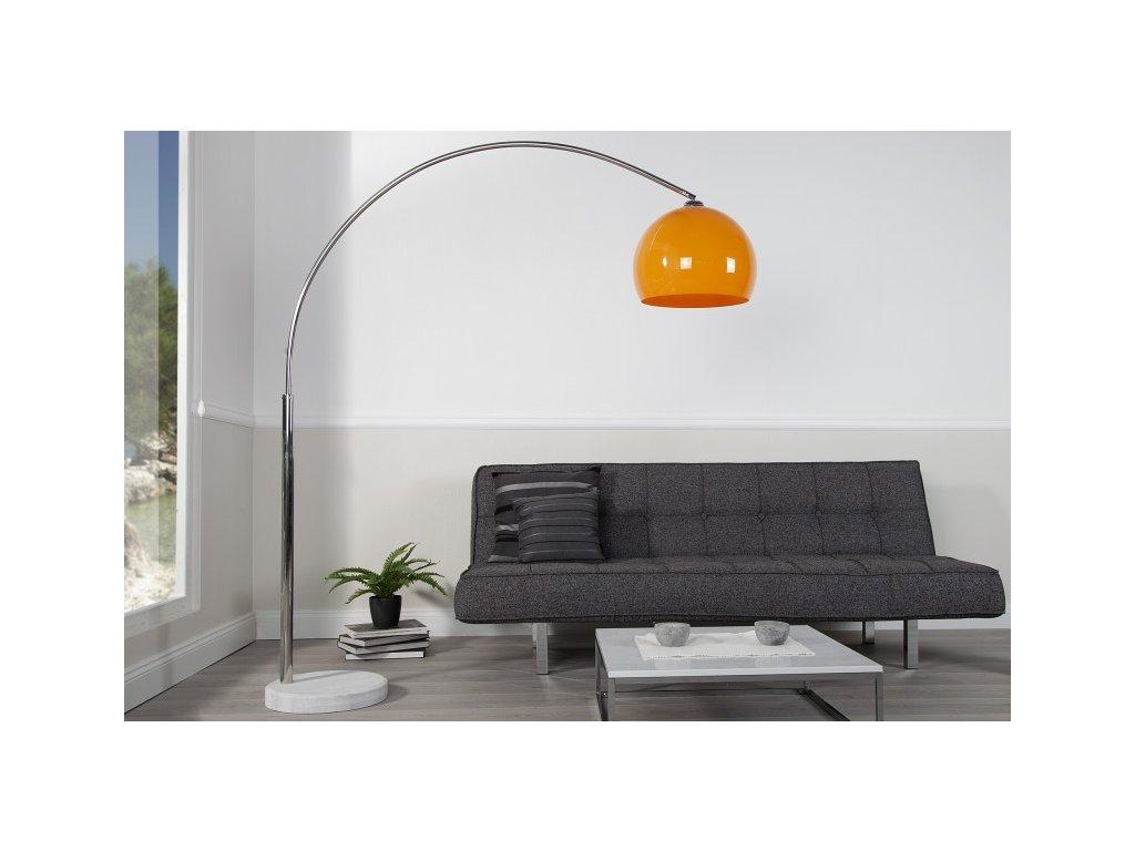 Luxusní stojací lampa Anna, oranžová 01
