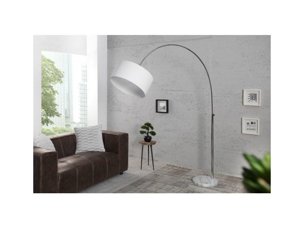 Luxusní stojací lampa Becky, bílá 01