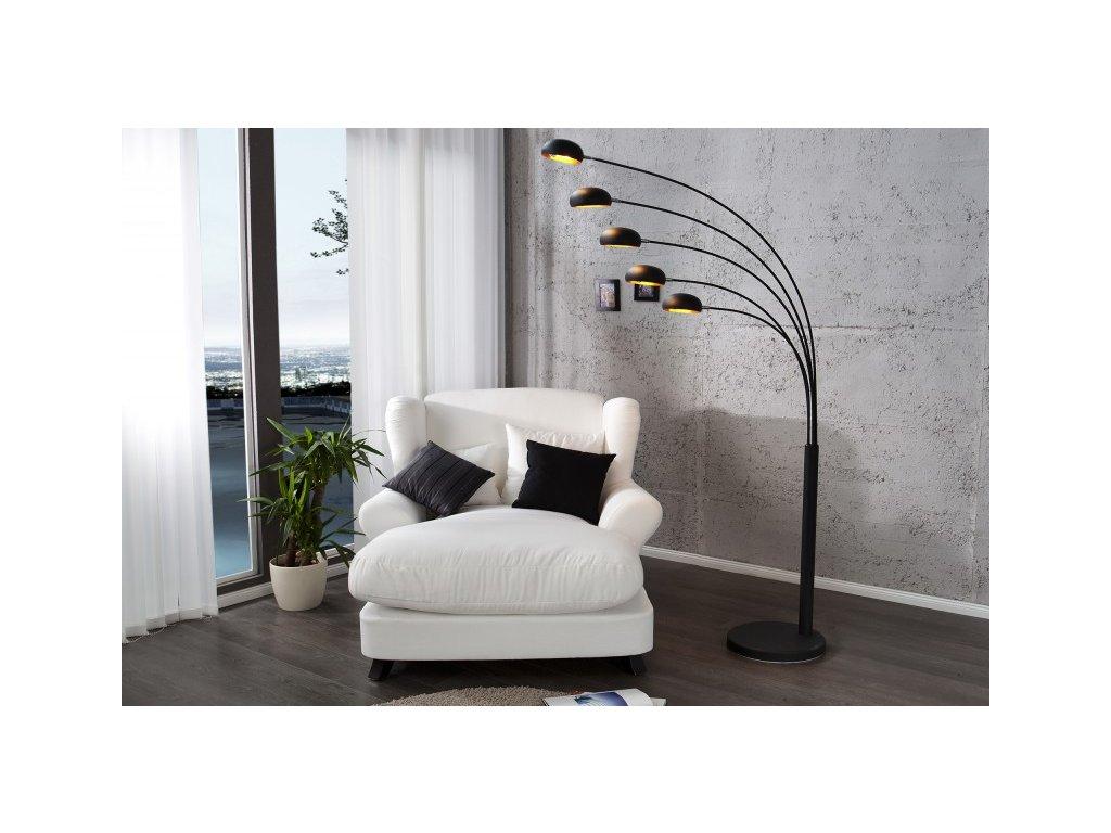 Designová stojací lampa Leah, černá 01
