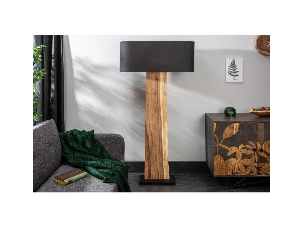 Designová stojací lampa Amber, černá 02