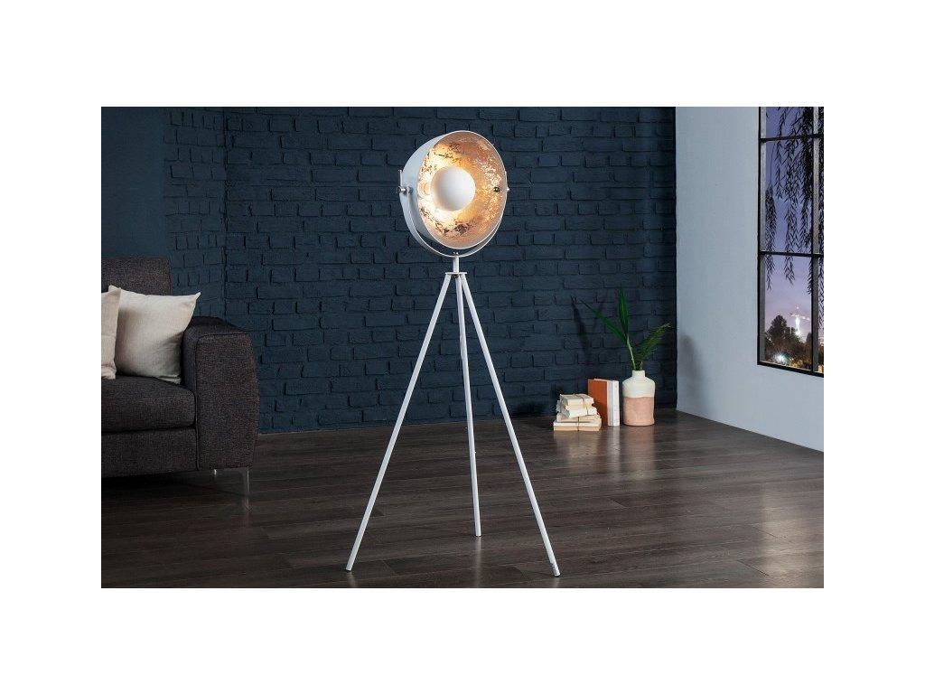Luxusní stojací lampa Jess, bílá 01