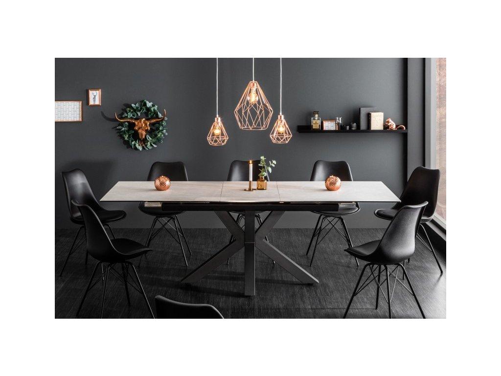 Luxusní jídelní stůl Oliver, šedý 01