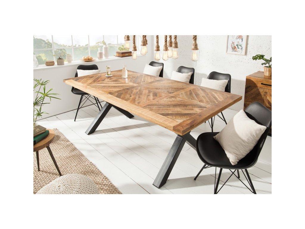 Luxusní jídelní stůl Aaron, přírodní 200cm 01