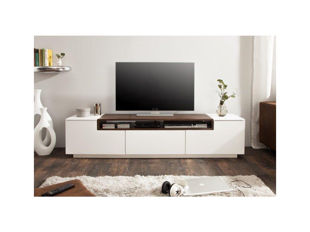 Luxusní TV stolek Will, bílý ořech 01