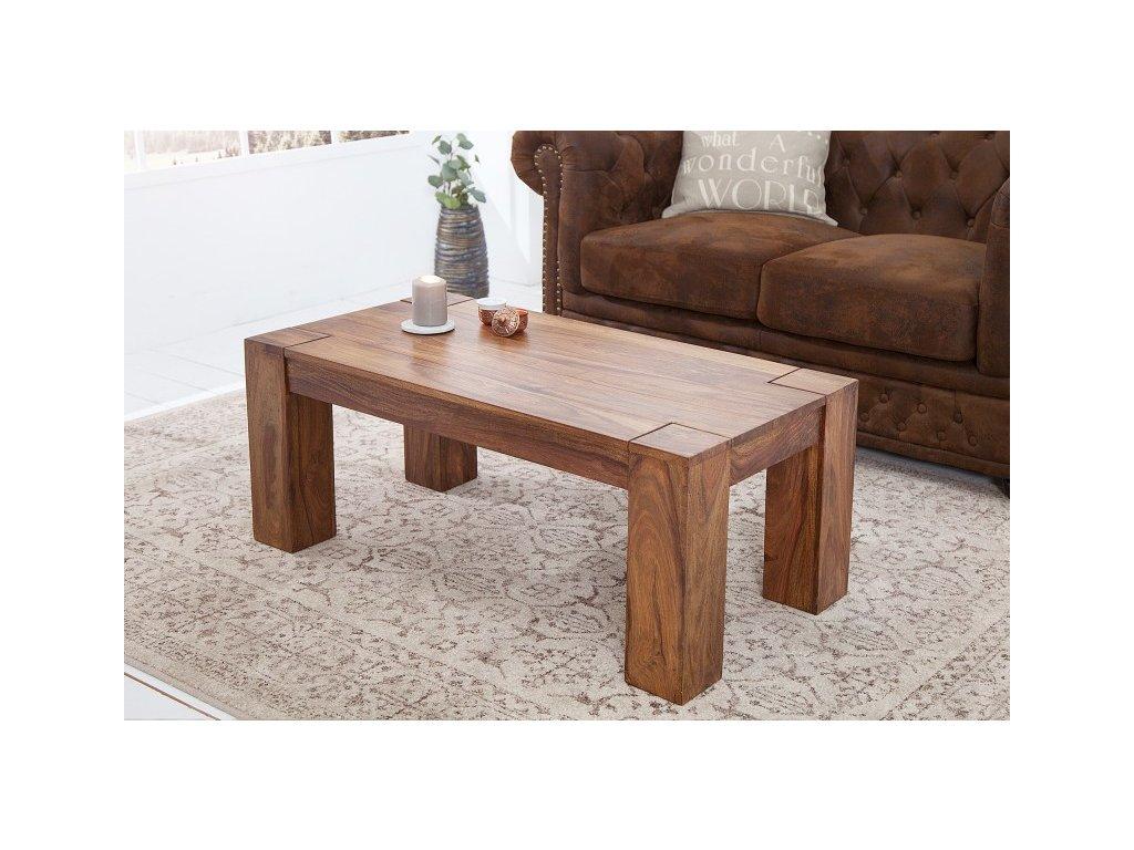 Masivní konferenční stolek Tom, 100cm 01