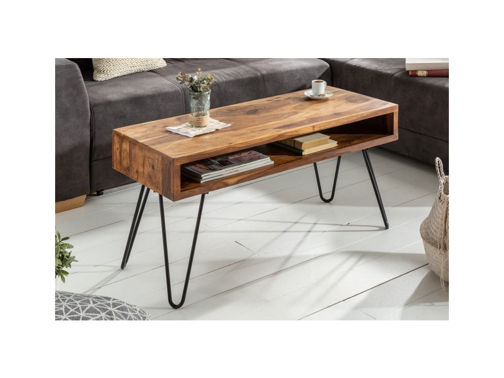 Masivní konferenční stolek Simon, 100cm 01