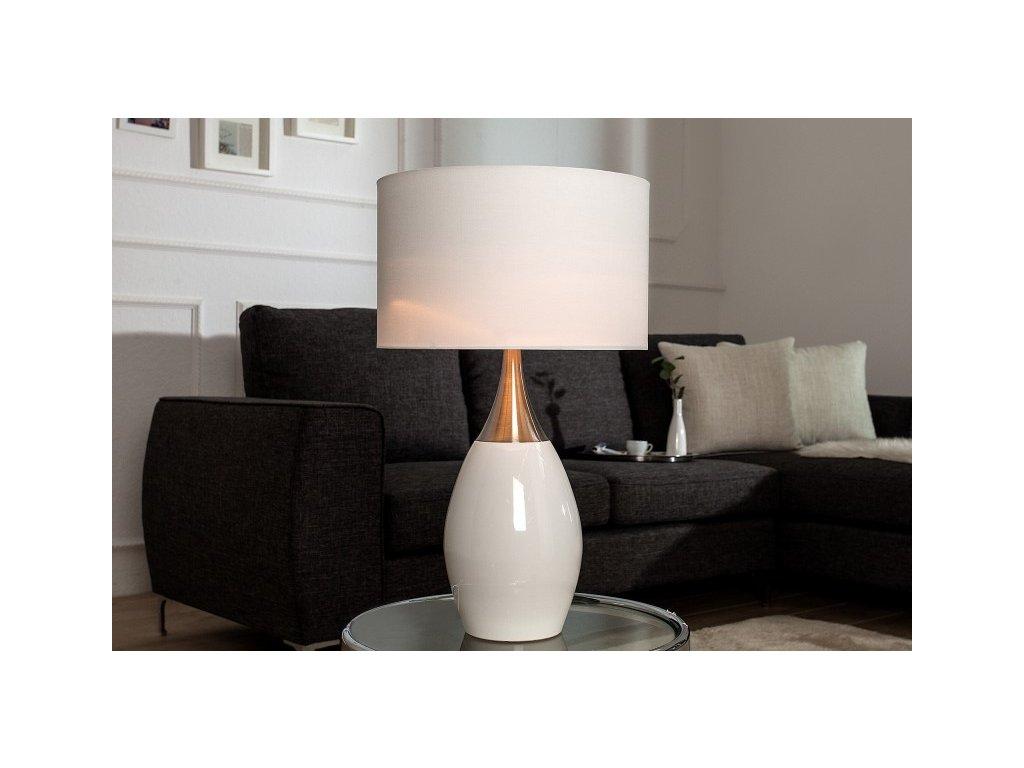 Luxusní stolní lampa Alex, bílá 01