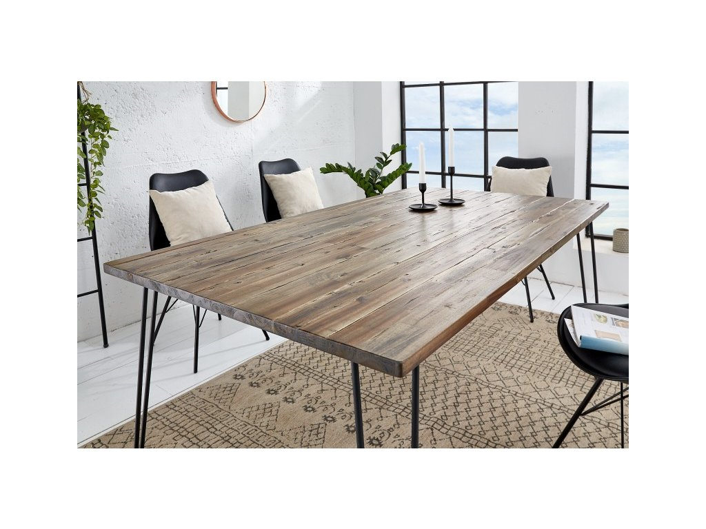 Masivní jídelní stůl Brandon, 160cm 01