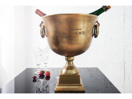 Chladič šampaňského Louis, zlatý 01