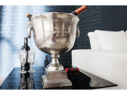 Chladič šampaňského Louis, stříbrný 01