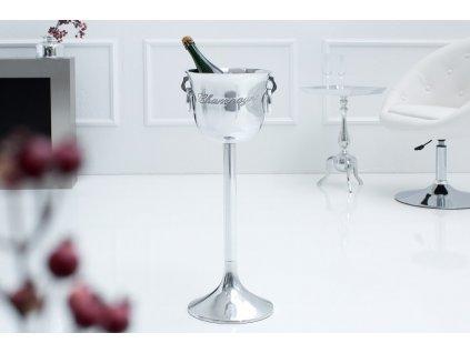 Chladič šampaňského Alfie, 75cm stříbrný 01