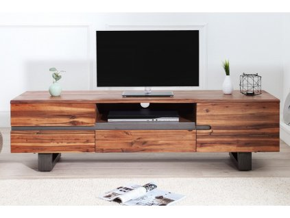 Masivní TV stolek Aidan, akát 03