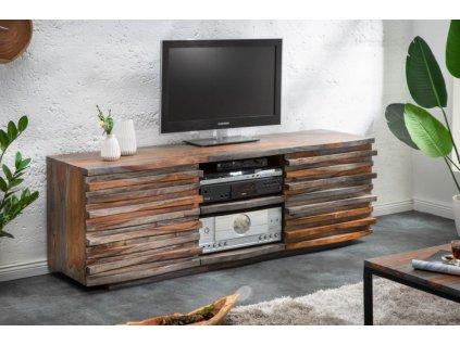 Masivní TV stolek Stacey, šedý 01
