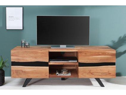 Masivní TV stolek Alister, akát 01