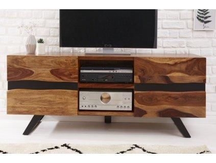 Masivní TV stolek Andres, sheesham 01