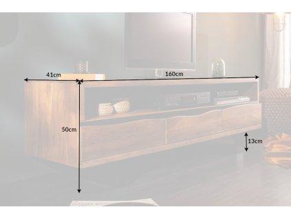 Luxusní TV stolek Dexter, akát 01