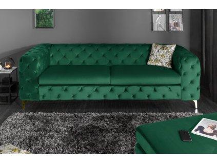 Moderní pohovka Charlie, zelená 01