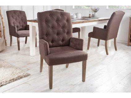 Jídelní židle s opěrkou Jenny, hnědá 01