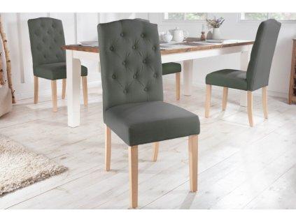 Jídelní židle Jenny, šedá 01