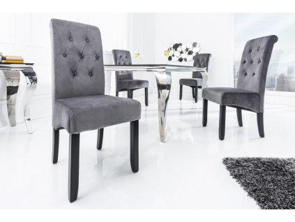 Retro jídelní židle Abi, šedá 01