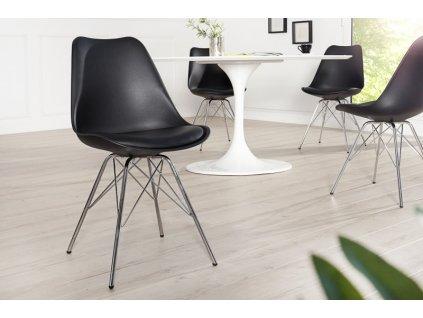 Jídelní židle Clara, černá 01