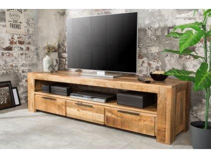 Masivní TV stolek Alphonse, světlý 01