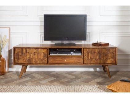 Masivní TV stolek Fabian, sheesham 01